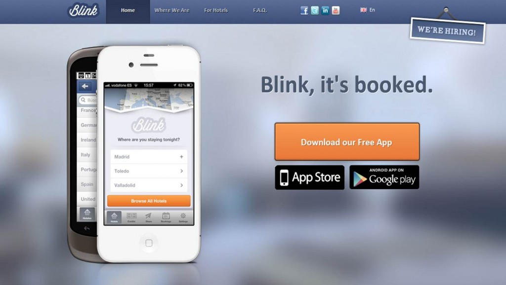 Blink Booking Screen